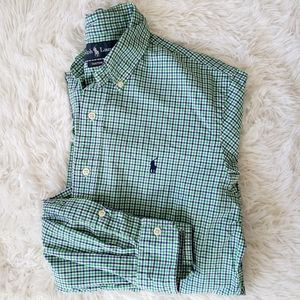 Ralph Lauren Custom Fit Plaid Button Down Shirt, M